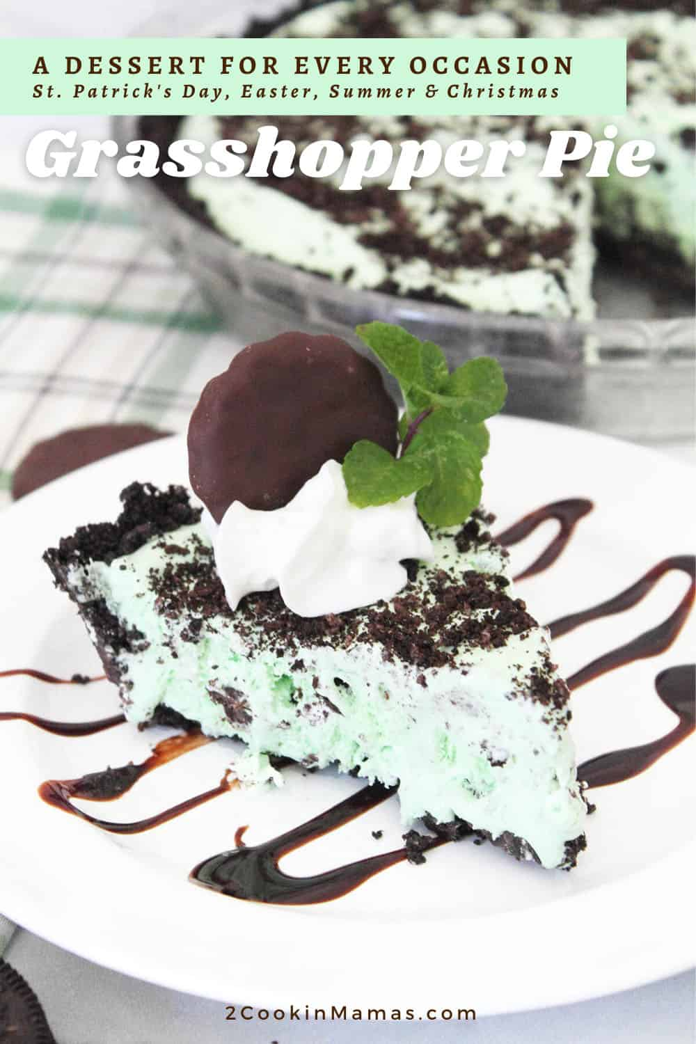 Easy No Bake Grasshopper Pie