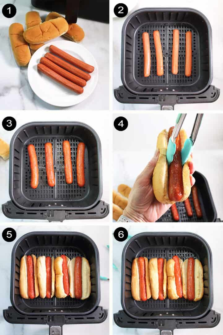 How to air fry hot dogs.