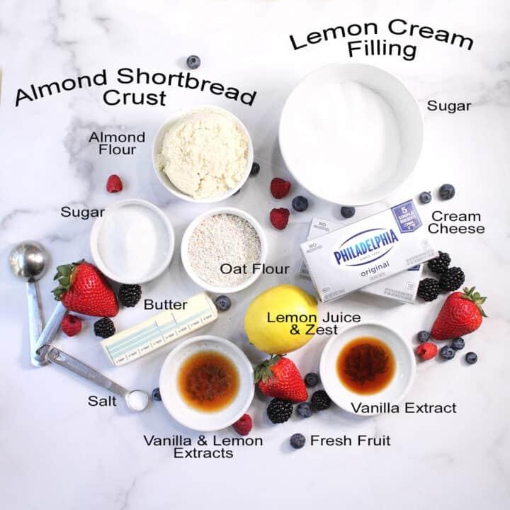 Ingredients for Fresh Fruit Tart.