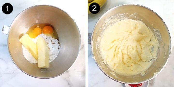 Steps 1-2 to make custard.